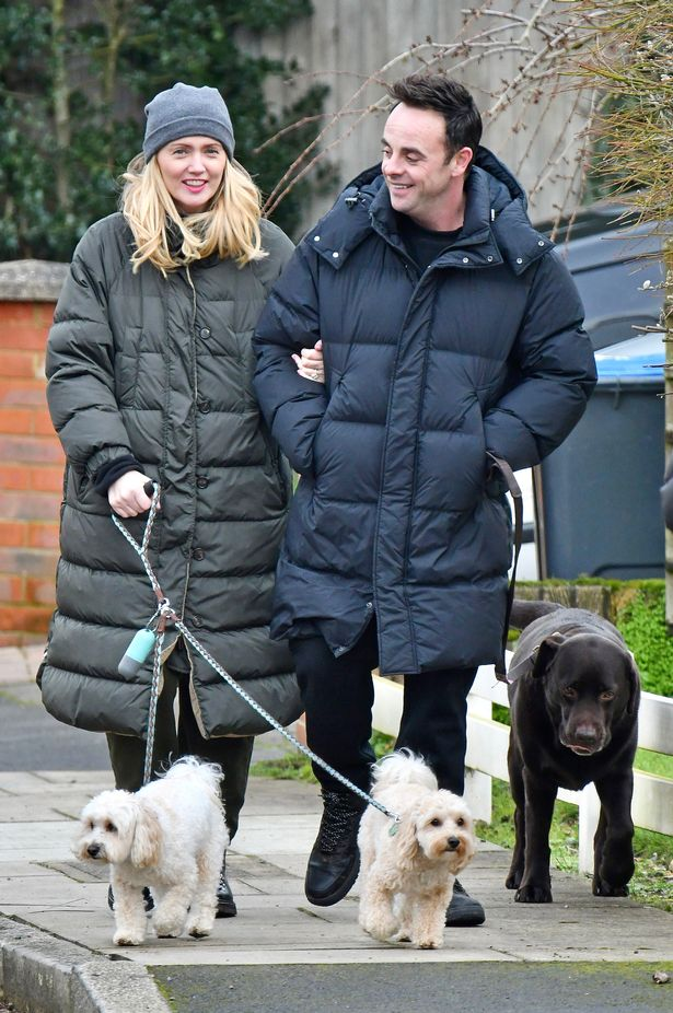 Ant McPartlin and wife Anne-Marie Corbett enjoyed a dog walk together.
