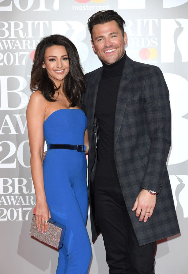 Michelle Keegan showed support for her husband Mark Wright.