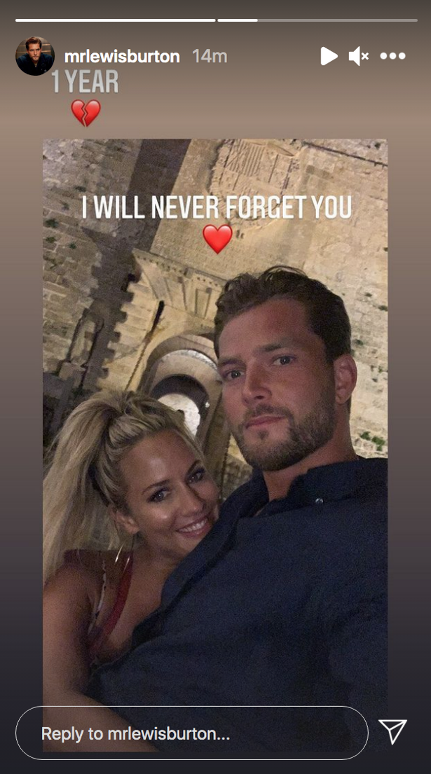 Lewis shared a wonderful image of herself and Caroline on the holiday.