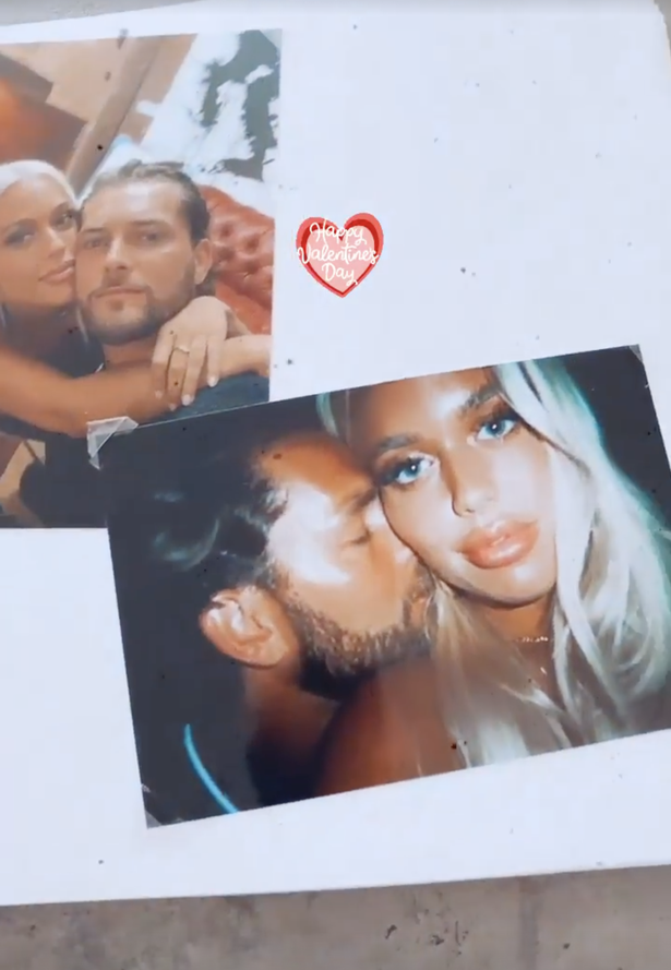 Lewis shared a scrapbook video celebrating his romance with Lottie Tomlinson on Valentine's Day.