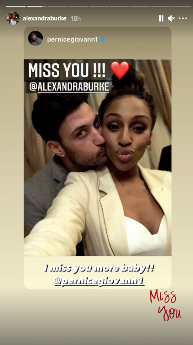 Giovanni Pernice dealt exclusively with Alexandra Burke's rumors of romance.