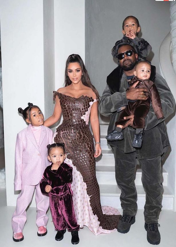 Kim and Kanye are the parents of four children.