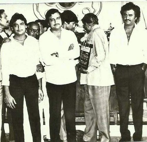An old photo of KC Bokadia with Rajinikanth