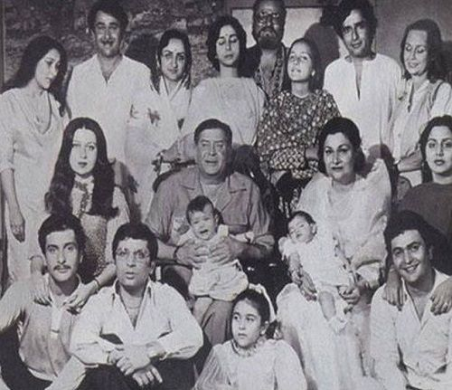 An old photo of the Kapoor family