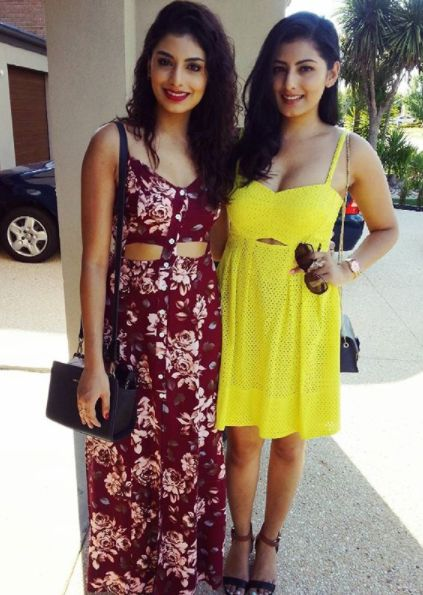 Nashpreet Kaur with her sister
